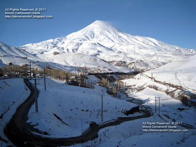 Mt Damavand in Winter