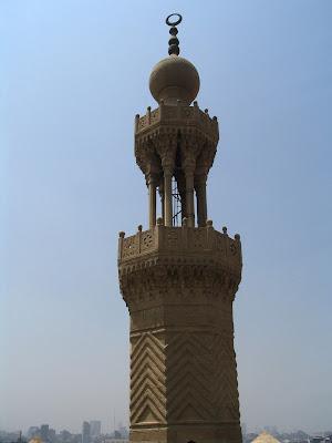 Minarete en el Cairo, Egipto