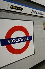 Stockwell Station sign on Vassall View