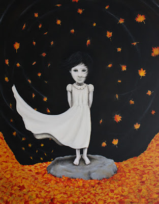 girl in the fall