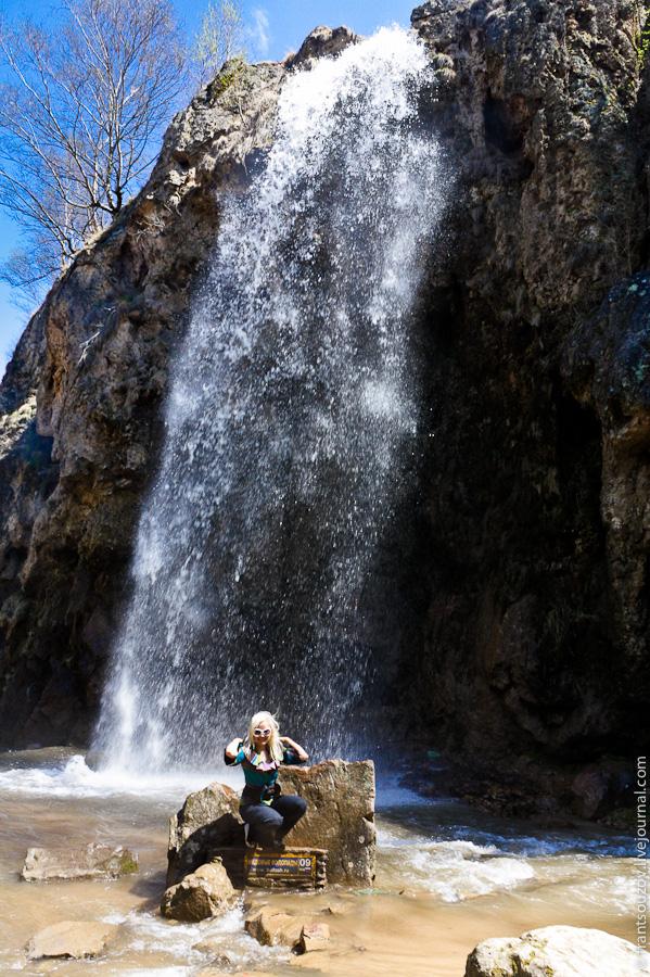 А вот и сами Медовые водопады!