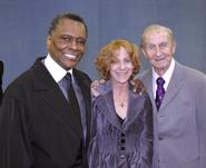 Leslie Norton with Dance Theatre of Harlem's Arthur Mitchell (left) and CBE Frederic Franklin.