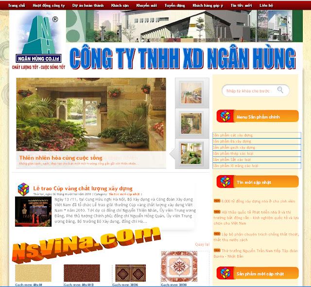 Dự án thiết kế website doanh nghiệp 09
