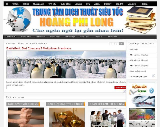 Dự án thiết kế website doanh nghiệp 11