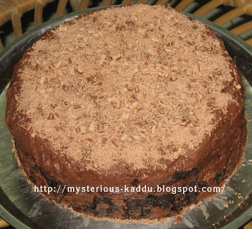 On the occasion of Chocolate Day, sharing the pic of this delicious Microwave Eggless Chocolate Cake I made for my Birthday Party!