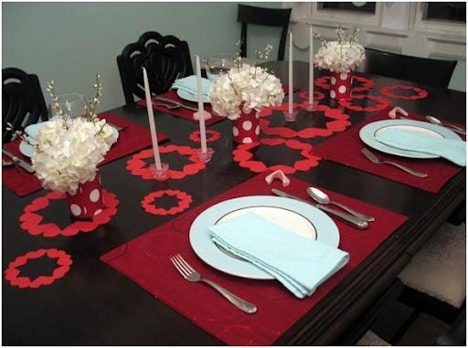 decoracion de la mesa en san valentin para una cena