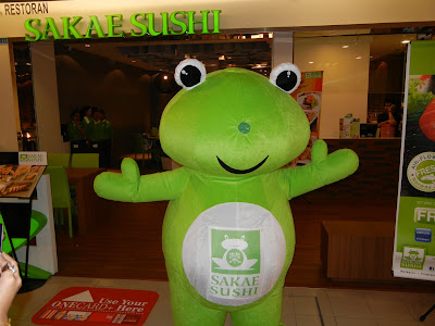 Sakae frog mascot