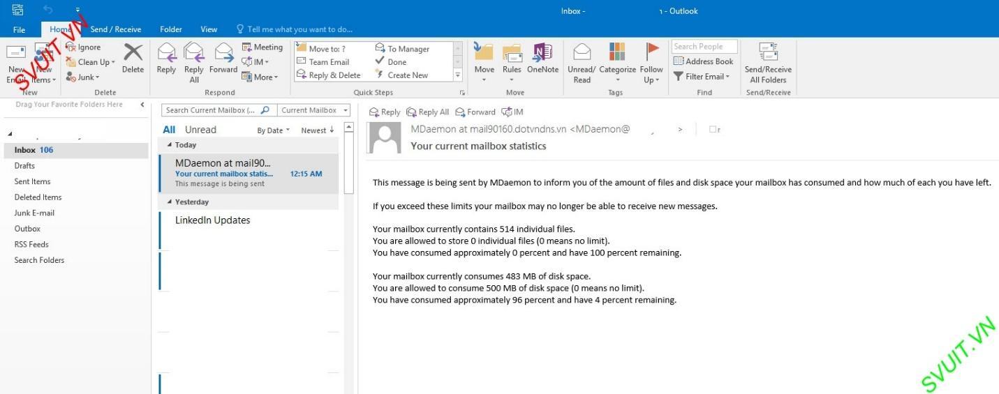 Xóa thư trên webmail và giữ lại trên Outlook (1)