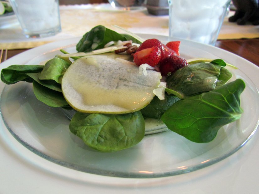 Pear and Spinach Salad by Doug Hagler