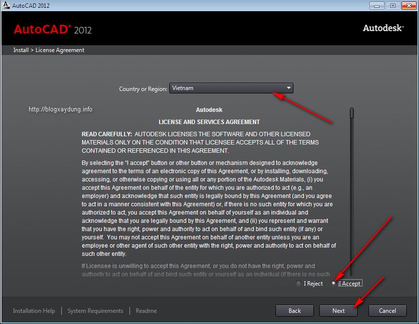 7 Hướng dẫn cài đặt và Active AutoCAD 2012   Full bằng hình ảnh.