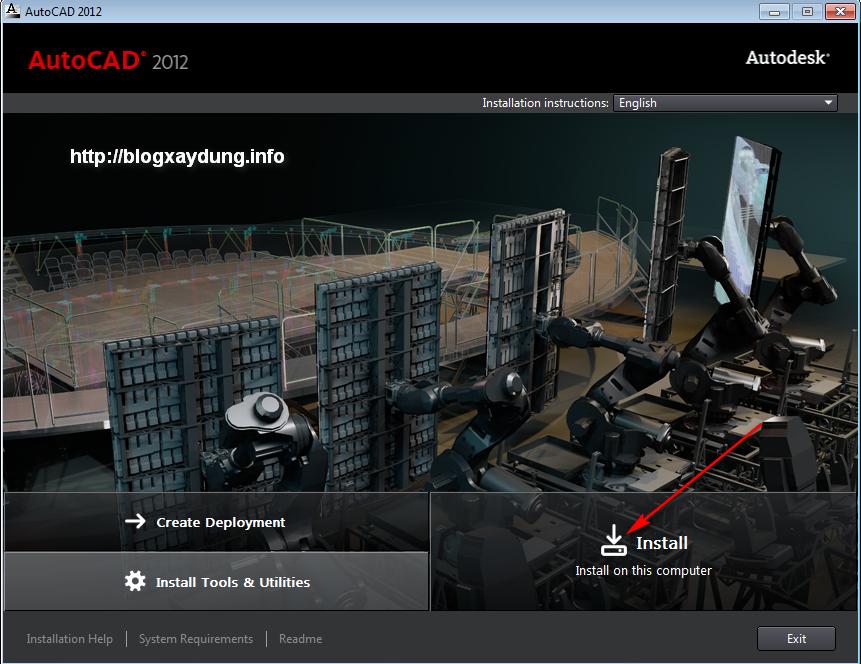 1 Hướng dẫn cài đặt và Active AutoCAD 2012   Full bằng hình ảnh.