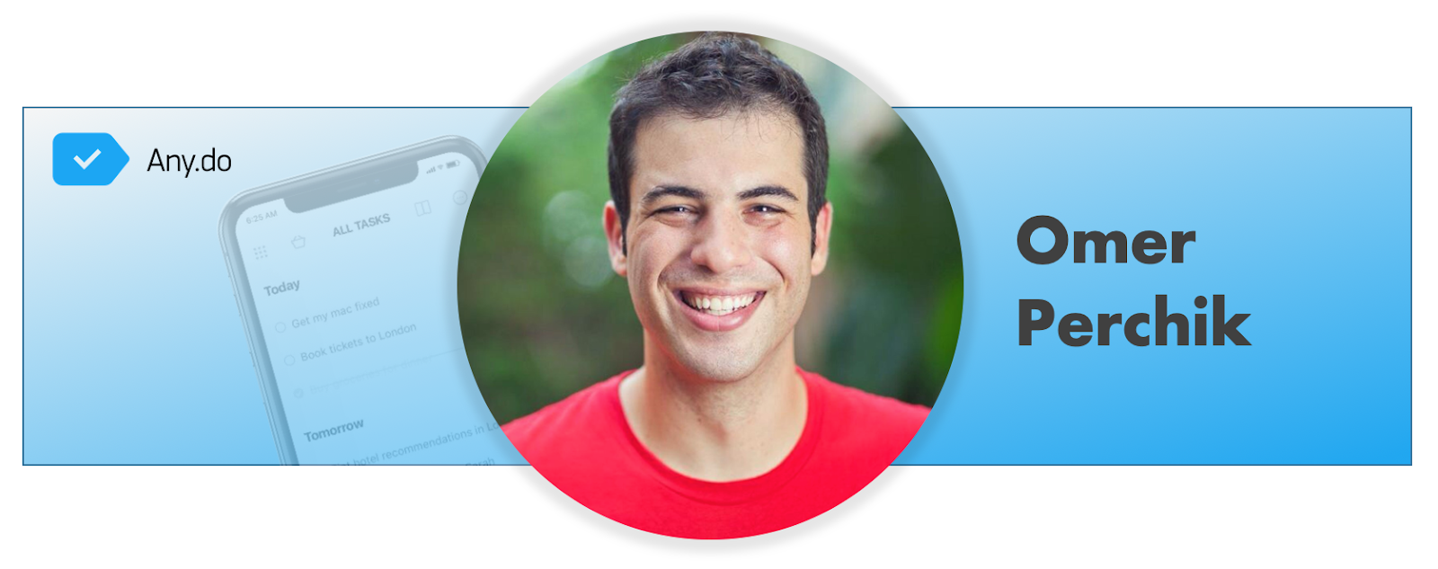 Omer Perchik, founder of any.do - the mobile spoon