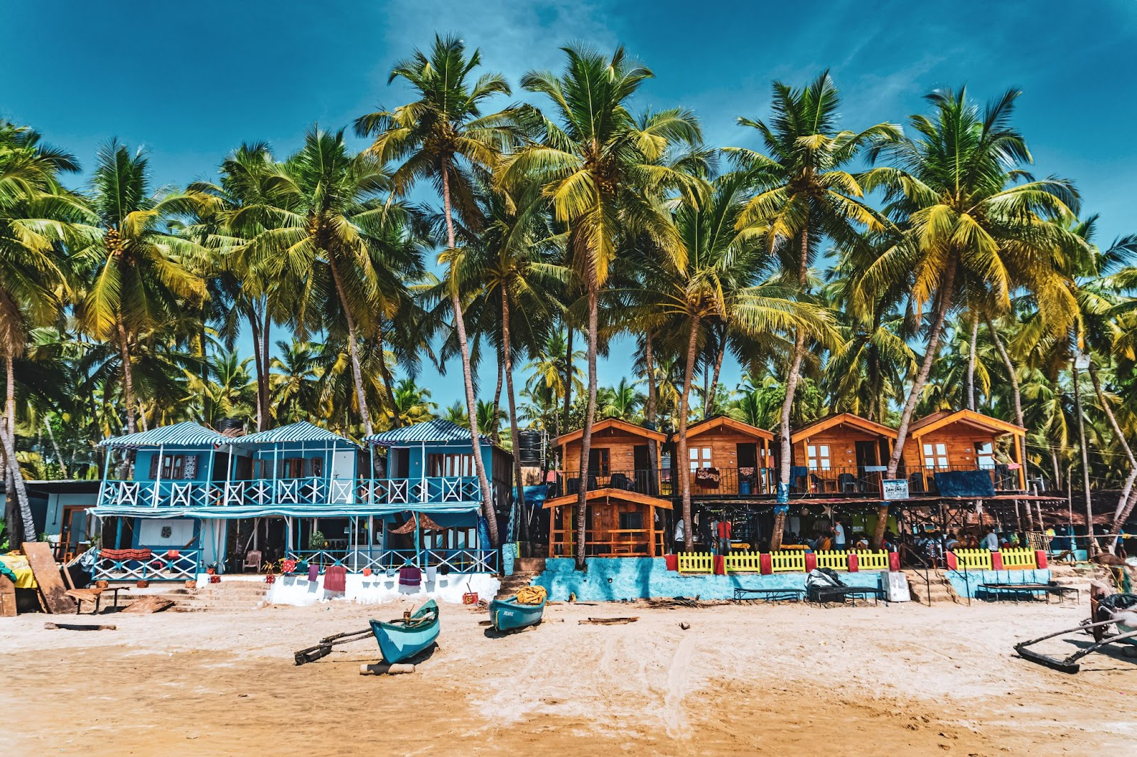 Palolem Beach, one of the top places to visit in South Goa.