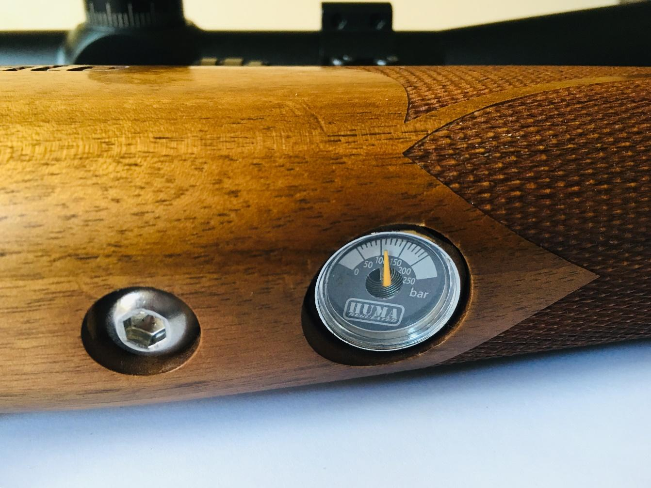 The pressure guage on the side of the rifle