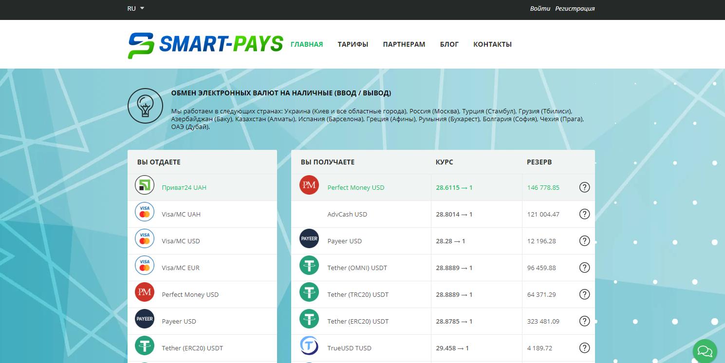 обзор обменника Smart-Pays, Фото № 1 - 1-consult.net