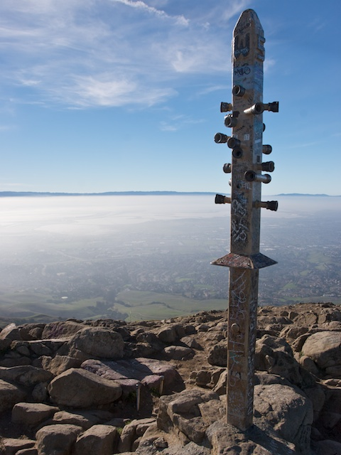 Mission Peak Summit Marker