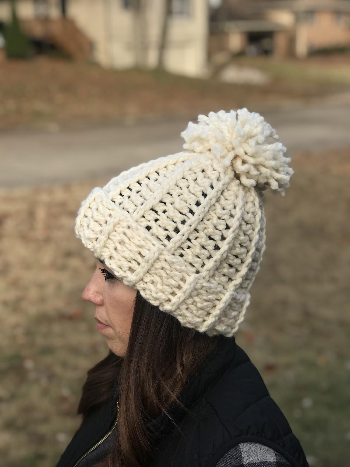 Crochet Beanie Crochet Hat The Jillie Beanie PomPom Beanie Adult Beanie Faux Fur Pom Winter Beanie Crochet Beanie Hat Child Beanie