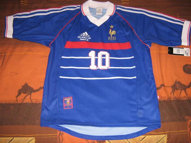 Vds maillot neuf france 98 zidane champion du monde petites annonces soccer 39 s c 39 est - France 98 coupe du monde ...
