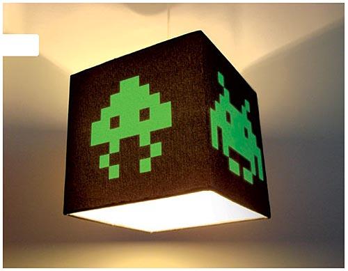 Luminária Space invaders