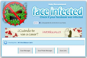 Eliminar virus del Facebook, eliminar virus facebook, face infected