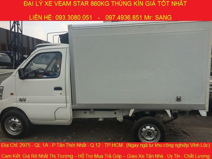 Xe tải veam 850kg, thùng kín, thùng bạt chỉ cần trả trước 20 triệu nhận xe ngay.