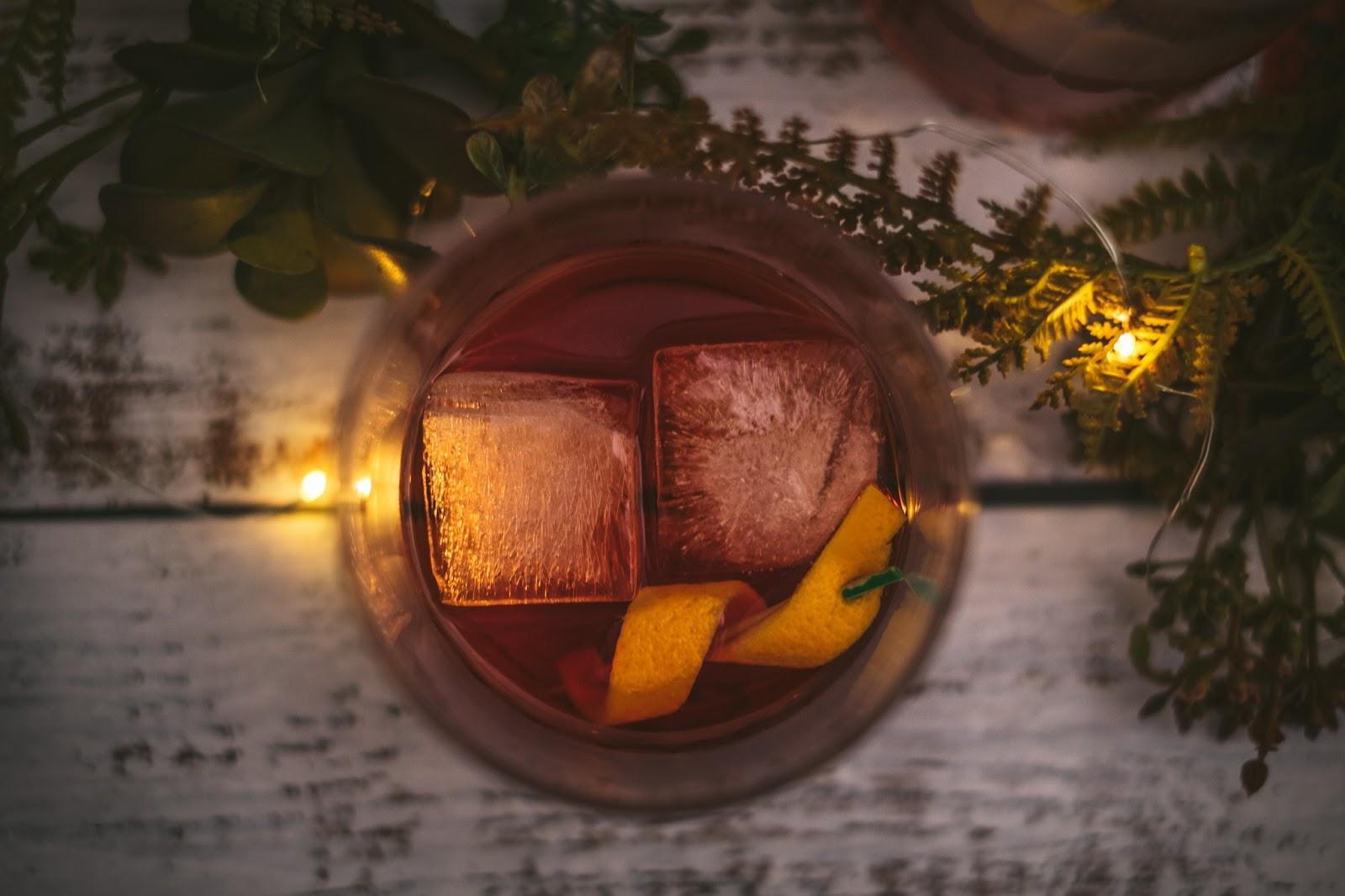 orange peel in drink