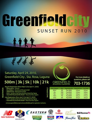The Greenfield City Sunset Run