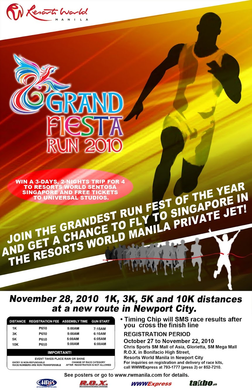 Resorts World Grand Fiesta Run - Win a Trip to Resorts World Singapore!