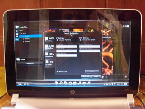 Setting network HP Mini 210-2103 Raspberry
