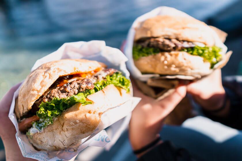Burgers from Ferg Burger in Queenstown