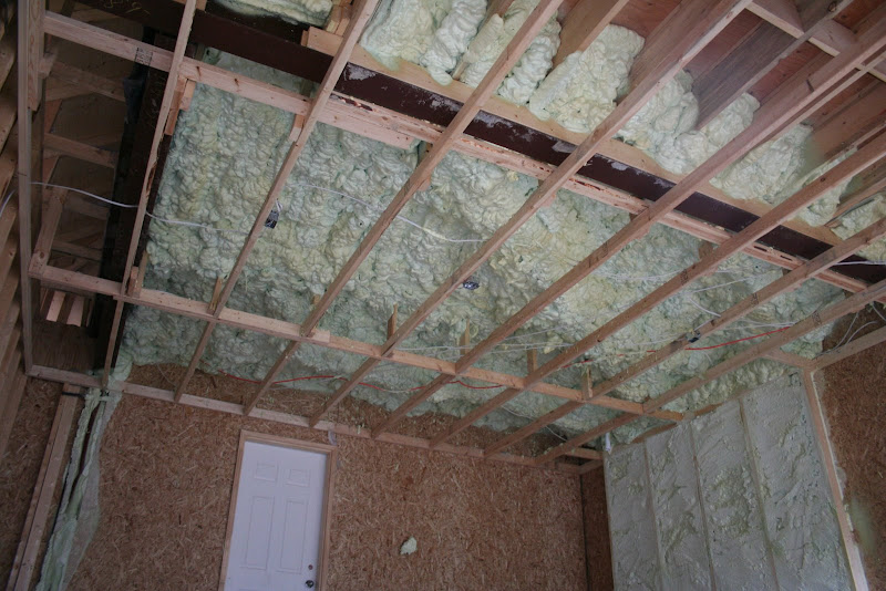 Insulating a garage ceiling with room above pranksenders for Cold floor insulation