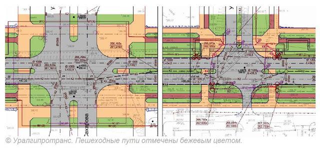 планировочная схема велодорожек