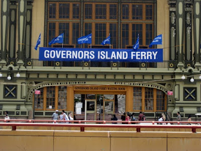 Governors Island Ferry - Entrance to the Waiting Room - in New York, NY - Photo Courtesy of Taste As You Go