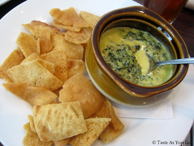 Spinach Dip with Pita Chips at Chelsea Brewing Company in New York, NY - Photo by Taste As You Go