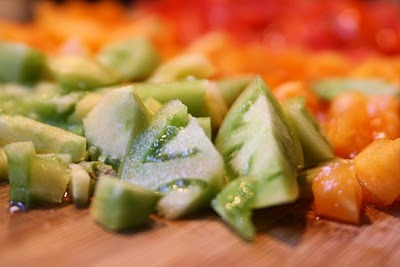 Chopped Heirloom Tomatoes - Photo Courtesy of Seriously Soupy