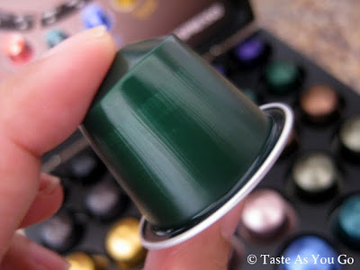 Selecting a Nespresso CitiZ Capsule - Photo by Taste As You Go