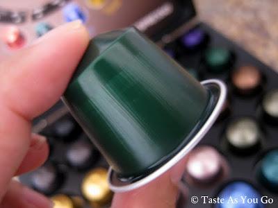 Selecting a Nespresso CitiZ Capsule - Photo by Taste As You Go