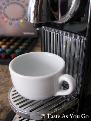 Getting Ready to Brew Espresso with the Nespresso CitiZ - Photo by Taste As You Go