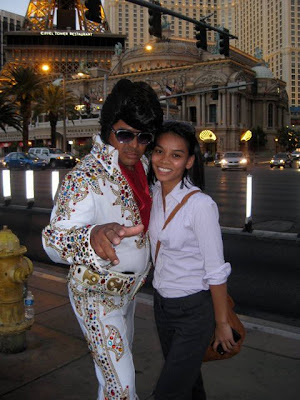Posing with Elvis on the Las Vegas Strip - Photo Courtesy of Taste As You Go