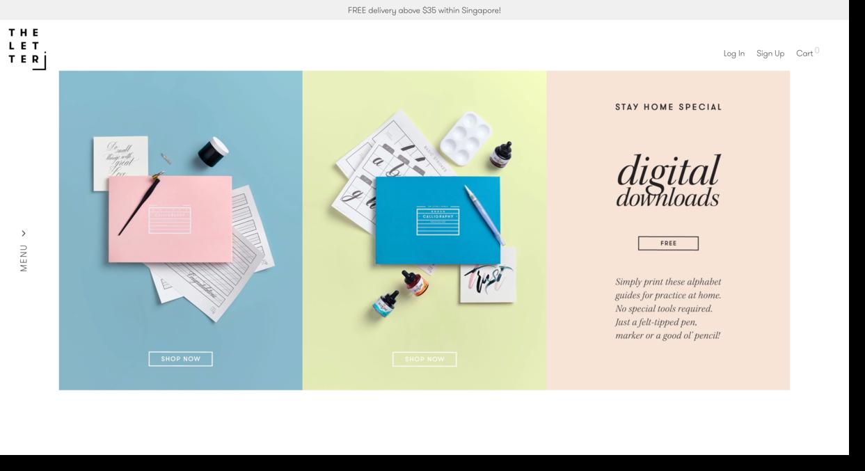 The Letter J business website screenshot