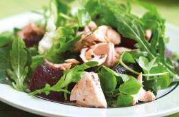 Salmon and beetroot salad