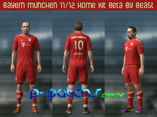 Bayern München 11-12 Home Kit para PES 2011 PES 2011 download P-Patchs