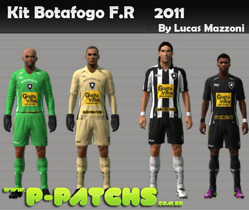 Botafogo Kitset 2011 para PES 2011 PES 2011 download P-Patchs