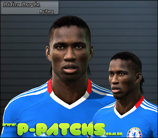 D. Drogba Faces para PES 2011 PES 2011 download P-Patchs