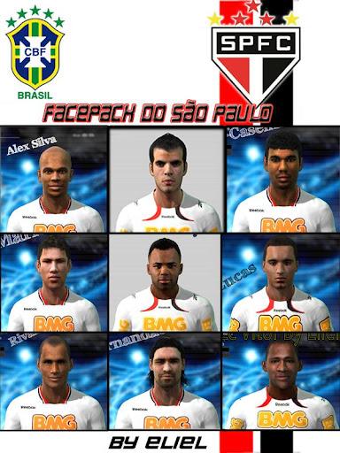 São Paulo Facepack para PES 2011 PES 2011 download P-Patchs