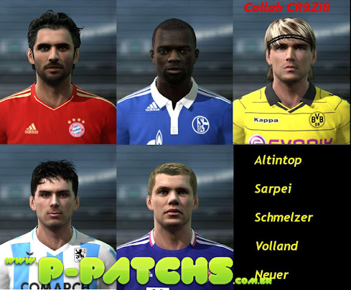 Bundesliga Facepack para PES 2011 PES 2011 download P-Patchs