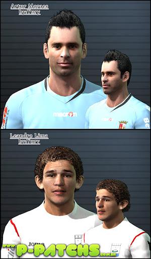 Artur Morais e Leandro Lima Faces para PES 2011 PES 2011 download P-Patchs