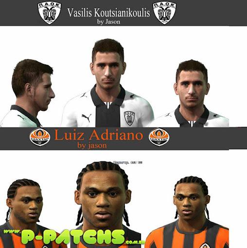 Koutsianikoulis e Luiz Adriano Faces Faces para PES 2011 PES 2011 download P-Patchs