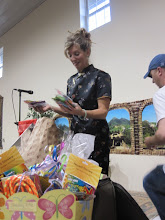 Kasey Towles opening shower gifts