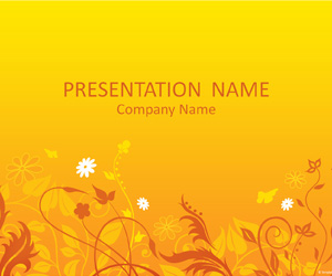 yellow summerfield powerpoint template design background free